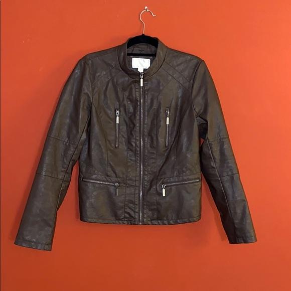 Xhilaration Jackets & Blazers - Xhilaration Faux Brown Leather Jacket